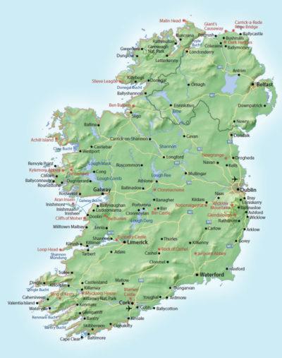 Irland Gesamtkarte