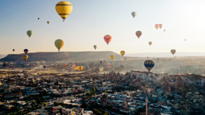 Flying, Hot Air Balloon, Cappadocia, Göreme, Turkey - Middle East