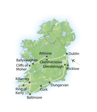 Route Höhepunkte Irlands Süden