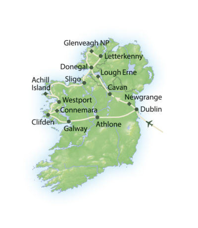 Route Höhepunkte Irlands Norden