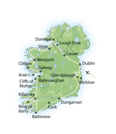 Route Höhepunkte Irlands Küsten