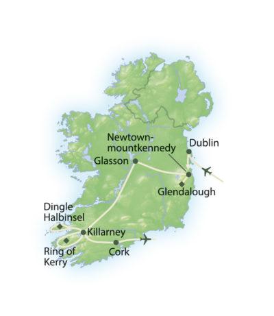 Route Irland für Golfer