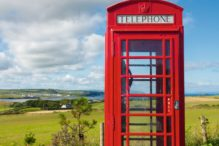Telefonzelle, Irland