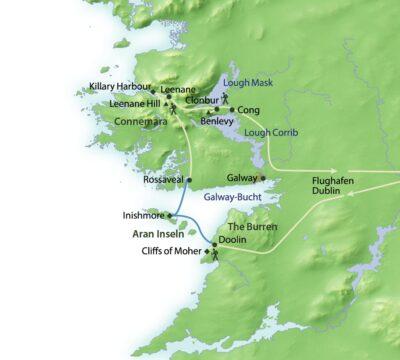 Route Wandern Burren & Connemara